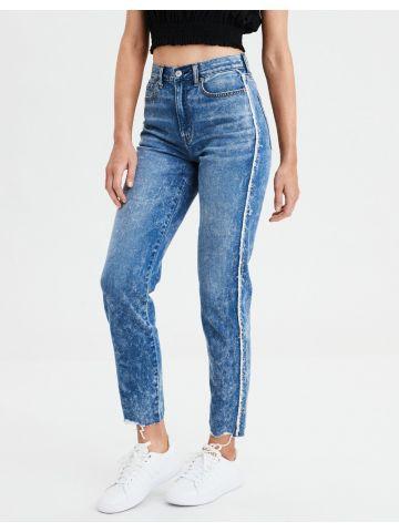 ג'ינס Mom ווש עם סיומת פרומה