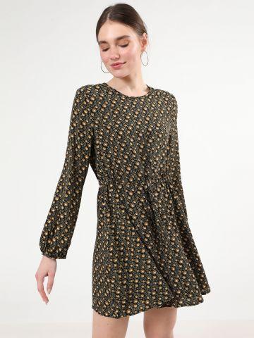 שמלת מיני בהדפס חמניות