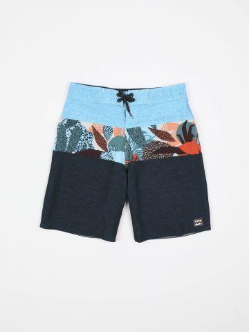 מכנסי בגד ים קולור בלוק מלאנז' / בנים