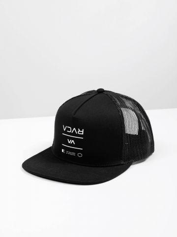 כובע מצחייה לוגו בשילוב רשת