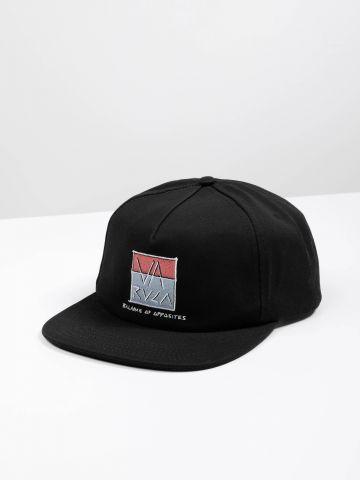 כובע מצחייה עם רקמת לוגו בוקס