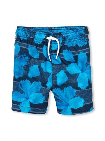 מכנסי בגדי ים חוסמי קרינה בהדפס פרחים / בייבי בנים