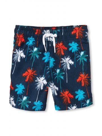 מכנסי בגדי ים חוסמי קרינה בהדפס עצי דקל / בייבי בנים
