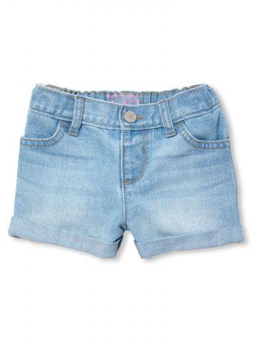 ג'ינס קצר בשטיפה בהירה / בייבי בנות