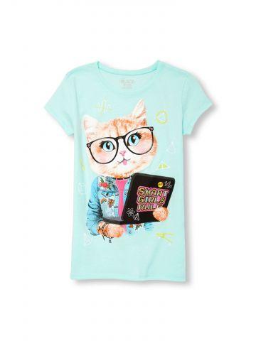 חולצת טי שירט smart girls rule / בנות
