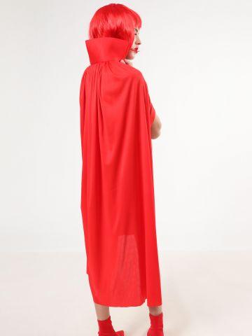 גלימה אדומה עם צווארון גבוה / תחפושות לפורים
