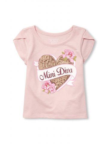חולצת טי שירט עם שרוולי טוליפ / בייבי בנות