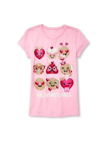 חולצת טי שירט אימוג'י מאוהב / בנות