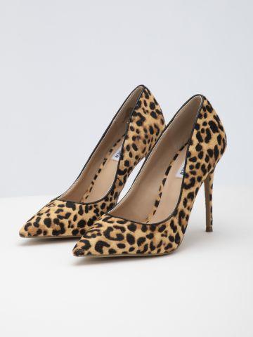 נעלי סטילטו מעור בהדפס מנומר