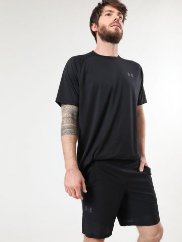 מכנסי ספורט קצרים עם גומי לוגו