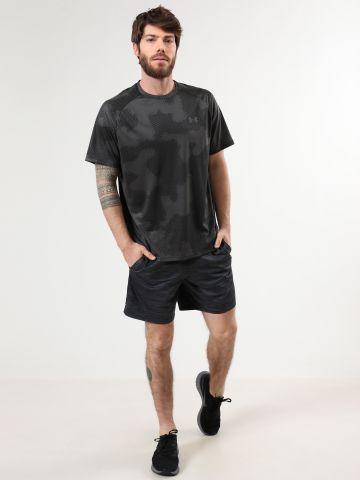 מכנסי ספורט קצרים בהדפס פסים