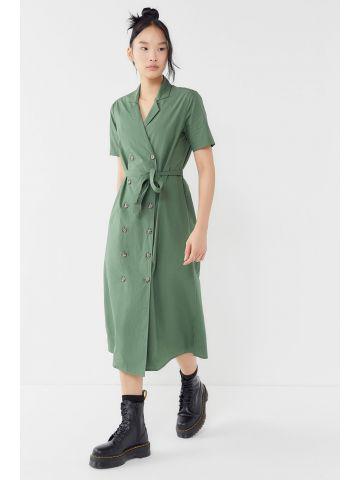 שמלת מעטפת מידי עם כפתורים UO