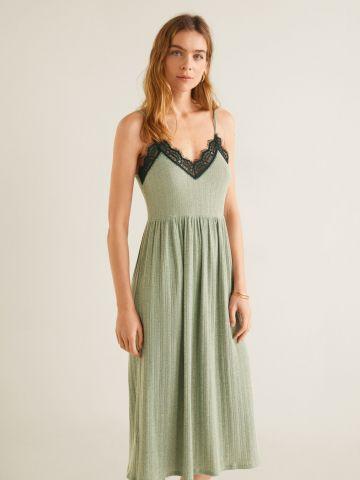 שמלת ריב מידי עם עיטורי תחרה