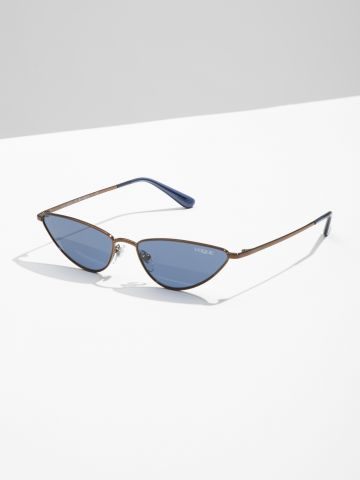 משקפי שמש צרים בסגנון עיני חתול Gigi Hadid