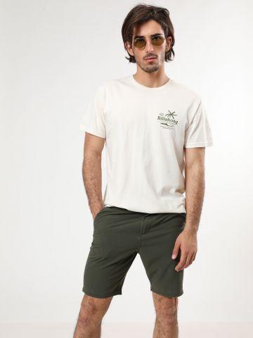 מכנסיים קצרים בטקסטורת משבצות