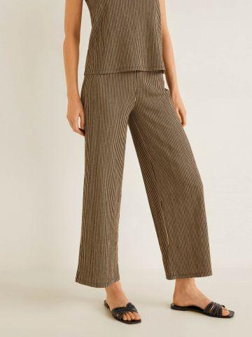 מכנסיים ארוכים בטקסטורת פסים