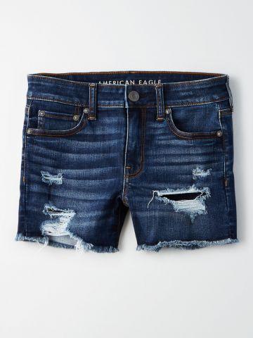 ג'ינס קצר עם קרעים Ne(X)t Level stretch