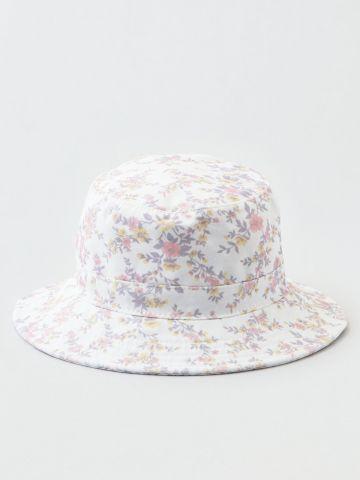כובע באקט בהדפס פרחים / נשים