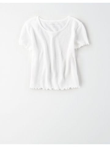 חולצת ופל עם סיומות מסולסלות / נשים