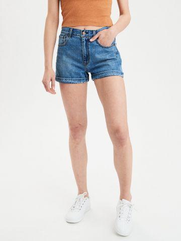 ג'ינס MOM קצר בגזרה גבוהה