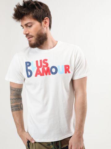 טי שירט עם הדפס Plus D'Amour