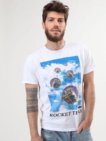 טי שירט מודפסת Rocket Team