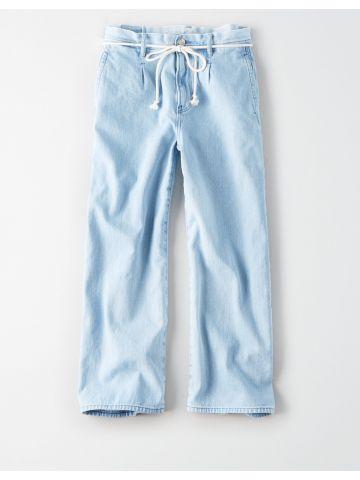 ג'ינס רחב בשטיפה בהירה Wide Leg Chase / נשים