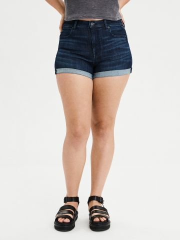 ג'ינס קצר בשטיפה כהה Ne(X)t Level Stretch