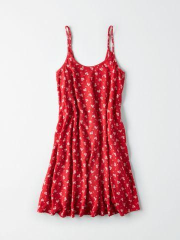 שמלת מיני קרפ בהדפס פרחים / נשים