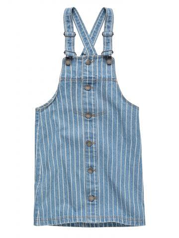 שמלת סרפן ג'ינס פסים / בנות