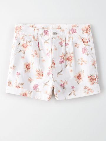 מכנסיים קצרים בהדפס פרחים / נשים