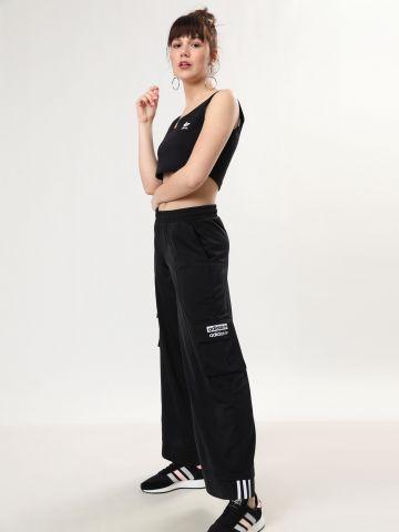 מכנסי טראק רחבים עם כיסי לוגו Kylie Jenner Capsule