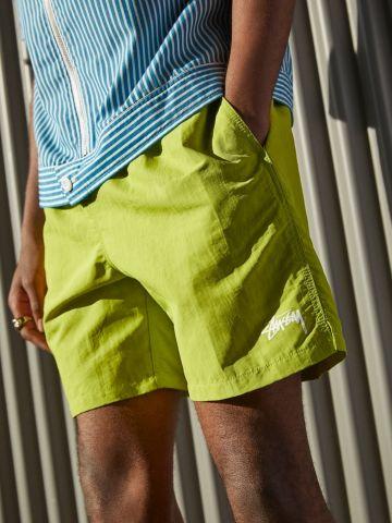 מכנסי ניילון קצרים עם לוגו Stussy