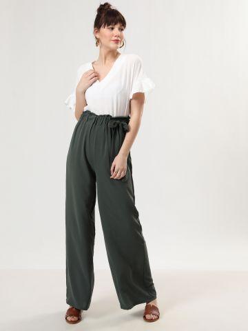 מכנסיים רחבים עם עיטור קשירה