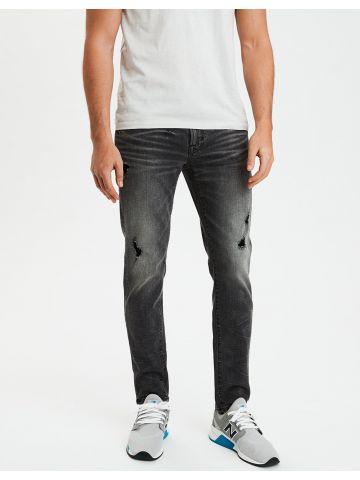 ג'ינס סקיני עם ווש וקרעים Skinny
