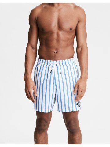 מכנסי בגד ים בהדפס פסים