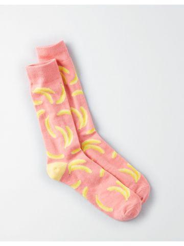 גרביים מעל הקרסול בהדפס בננות / גברים
