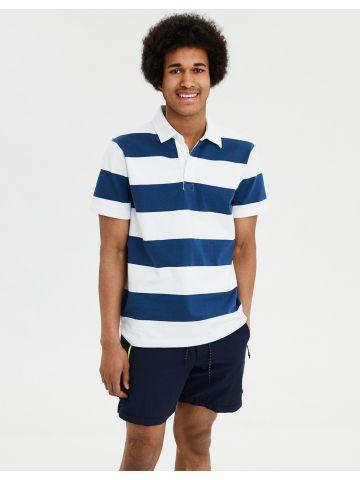 חולצת פולו בהדפס פסים