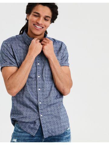 חולצה מכופתרת בדוגמת ריבועים