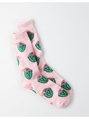 גרביים מעל הקרסול בהדפס אבטיחים / גברים