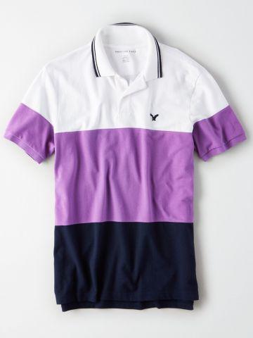 חולצת פולו קולור בלוק / גברים