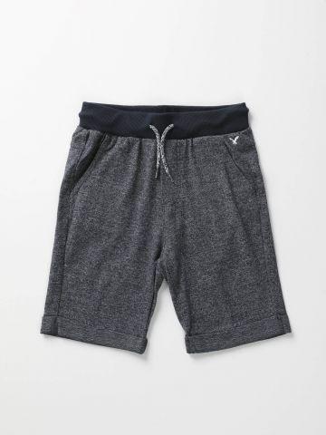 מכנסי טרנינג מלאנז' קצרים / בנים