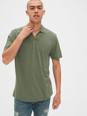 חולצת פולו פשתן