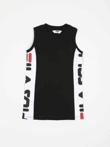 שמלת מיני עם פאנלים לוגו / בנות