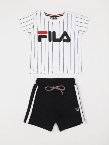 סט טי שירט ומכנסיים קצרים עם לוגו המותג / בנים
