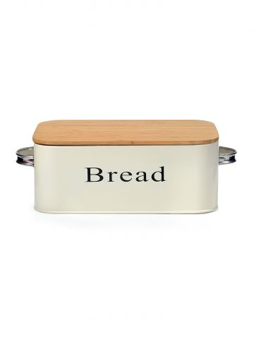 קופסת אחסון ללחם עם קרש חיתוך