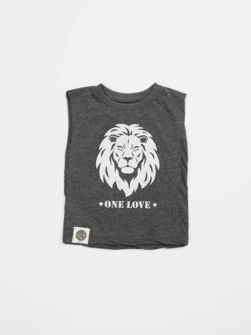 חולצה עם הדפס אריה One Love / בייבי בנים
