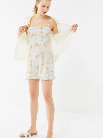 שמלת מיני מלמלה בהדפס פרחים UO