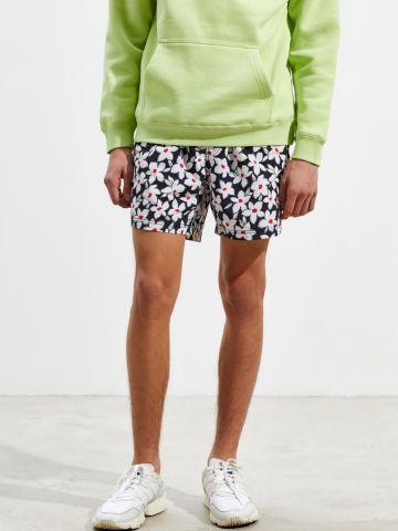 מכנסי בגד ים קצרים בהדפס פרחים UO