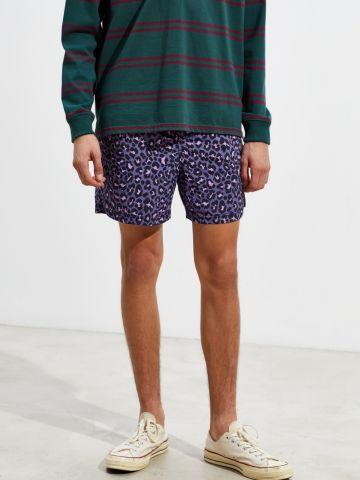 מכנסי בגד ים קצרים בהדפס מנומר UO